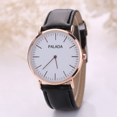 PALADA Women's T1191G Fashion Leather Band Wrist Quartz Watch