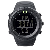 PALADA Men's T7005G Sports Black Digital Watch Wrist Watch Electronic Military Watch with LED Backlight for Men